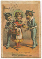 "Higgins' German Laundry Soap, Booklyn, NY Antique Trade Card - 3"" x 4.5"""