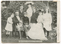 President Theodore Roosevelt and Family Real Photo Vintage Postcard