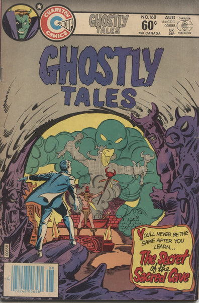 "Ghostly Tales No. 168, ""The Secret of the Sacred Grave,"" Charlton Comics, August 1984"