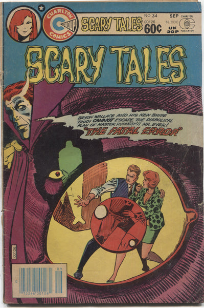 "Scary Tales No. 34, ""The Fatal Error,"" Charlton Comics, September 1982"