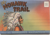 Mohawk Trail, Thru the Berkshires, Massachusetts Vintage Souvenir Postcard Folder