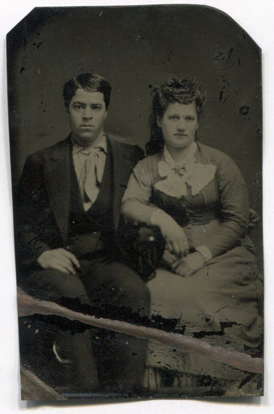 Tintype Photograph of an Unhappy Couple