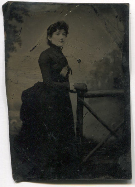 Tintype Photograph of a Proper Looking Lady