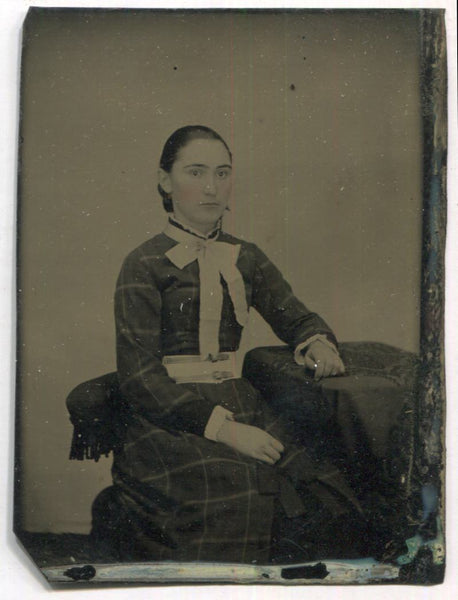 Tintype Photograph of a Seated Young Woman