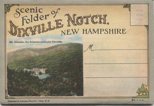 Dixville Notch, New Hampshire Vintage Souvenir Postcard Folder