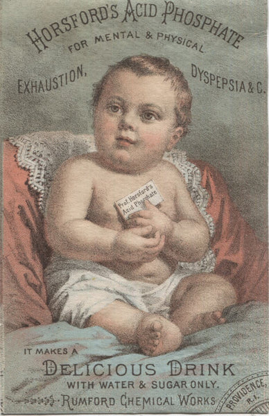 "Horsford's Acid Phosphate Antique Trade Card, Providence,  RI - 3"" x 5"""