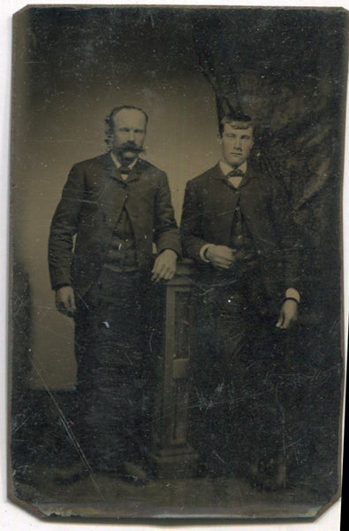 Tintype Photograph of Two Standing Men