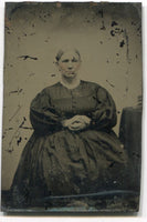 Tintype Photograph of a Bigger Old Woman