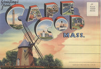 Cape Cod, Massachusetts Vintage Souvenir Postcard Folder