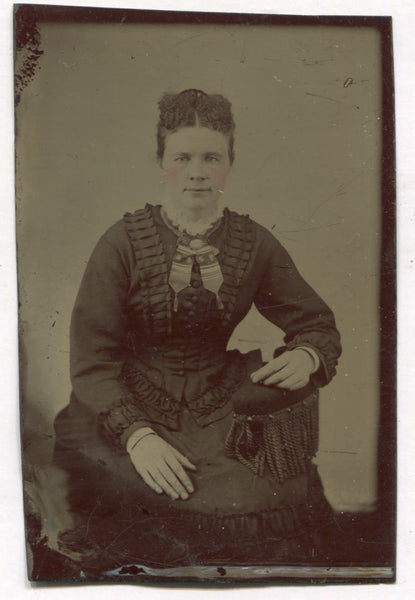 Tintype Photograph of a Seated Woman