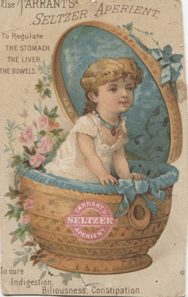 "Tarrant's Seltzer Aperient Antique Trade Card - 3"" x 4.75"""