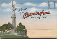 "Birmingham, Alabama ""The Magic City"" Vintage Souvenir Postcard Folder"