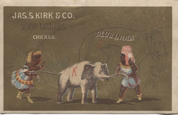 "Jas. S. Kirk & Co. Soap Makers Antique Trade Card, Chicago IL - 5"" x 3.25"""