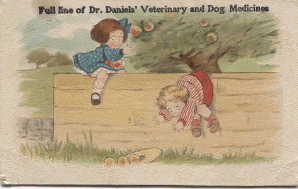 "Dr. Daniels' Veterinary and Dog Medicine Antique Trade Card - 5.5"" x 3.5"""