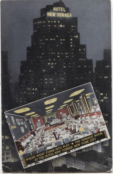 Hotel New Yorker, 34th Street at 8th Avenue, New York City Vintage Postcard