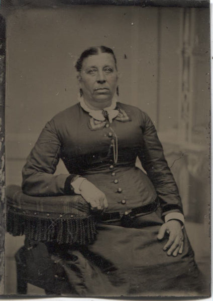 Tintype Photograph of an Older Woman Sitting