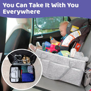 Prestige Baby Diaper Caddy - Car Organizer For Diapers & Baby Wipes - Nursery Storage Bin