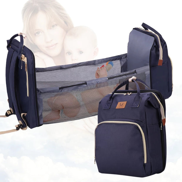 Prestige 3 in 1 Diaper Bag, Foldable Baby Bed, Waterproof Travel Bag