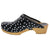 BJORK BJORK Emma Wood Open Back Polka Dots Leather Clogs