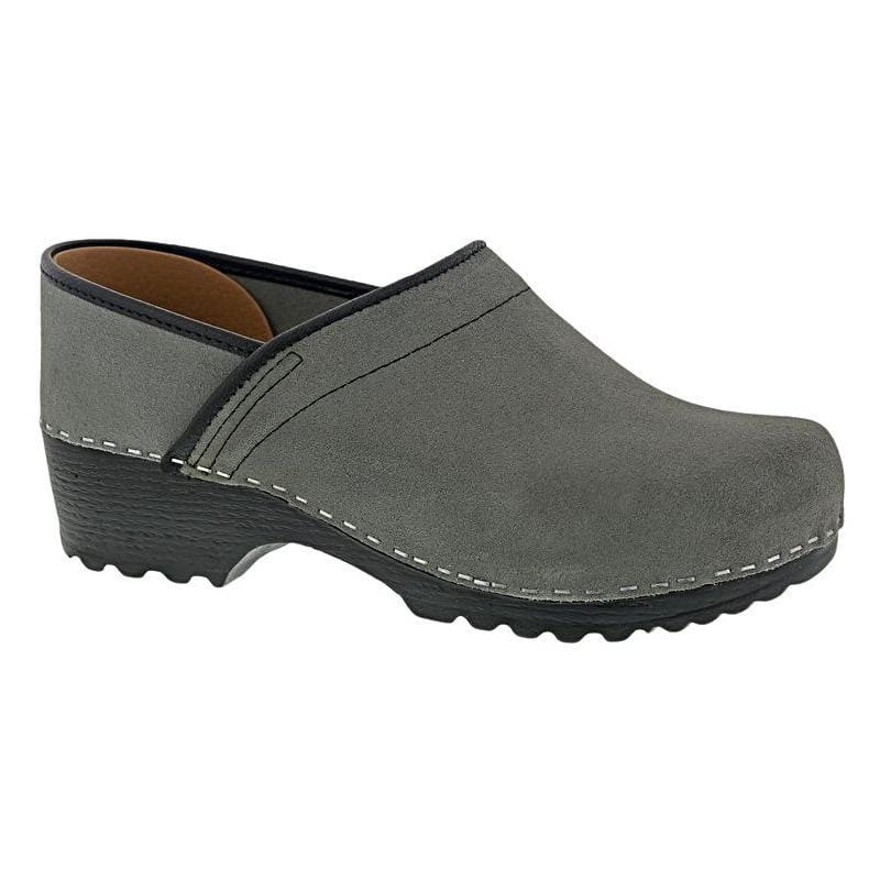 BJORK 657306-20-36 BJORK KARIN Swedish Women's Pro Suede Clogs Grey / EU-36