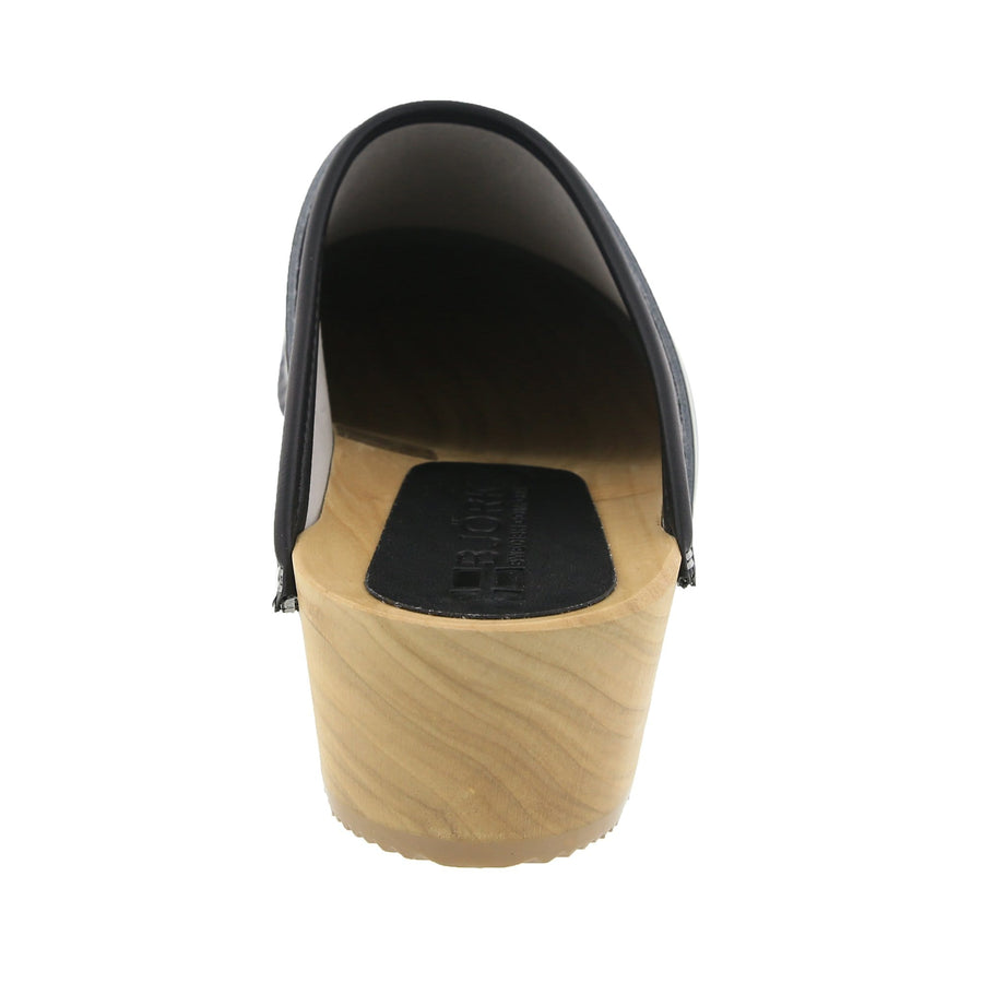 BJORK BJORK LEIA Wood Classic Open Back Patent Leather Clogs
