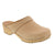 BJORK 600006-6-36 BJORK Maja Wood Open Back Beige Oiled Leather Clogs Beige / EU-36