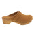BJORK BJORK Maja Wood Open Back Butterscotch Oiled Leather Clogs