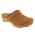 BJORK 600006-61-36 BJORK Maja Wood Open Back Butterscotch Oiled Leather Clogs Butterscotch / EU-36