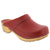 BJORK 600000-4-36 BJORK Maja Wood Open Back Leather Clogs Red / EU-36