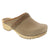 BJORK 600006-26-36 BJORK Maja Wood Open Back Mink Oiled Leather Clogs Mink / EU-36