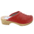 BJORK BJORK Mandy Wood Open Back Stitched Leather Clogs