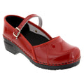 BJORK 750406-4-36 BJORK MARCELLA Mary Jane Red Patent Leather Clogs Red / EU-36