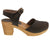 BJORK BJORK MARGARETA Swedish Wood Clog Sandals in Oiled Leather