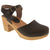 BJORK 754403-3-36 BJORK MARGARETA Swedish Wood Clog Sandals in Oiled Leather Brown / EU-36