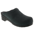 BJORK 750247-2-47 BJORK Men's SAM OPEN BACK Oiled Leather Clogs Black / EU-47