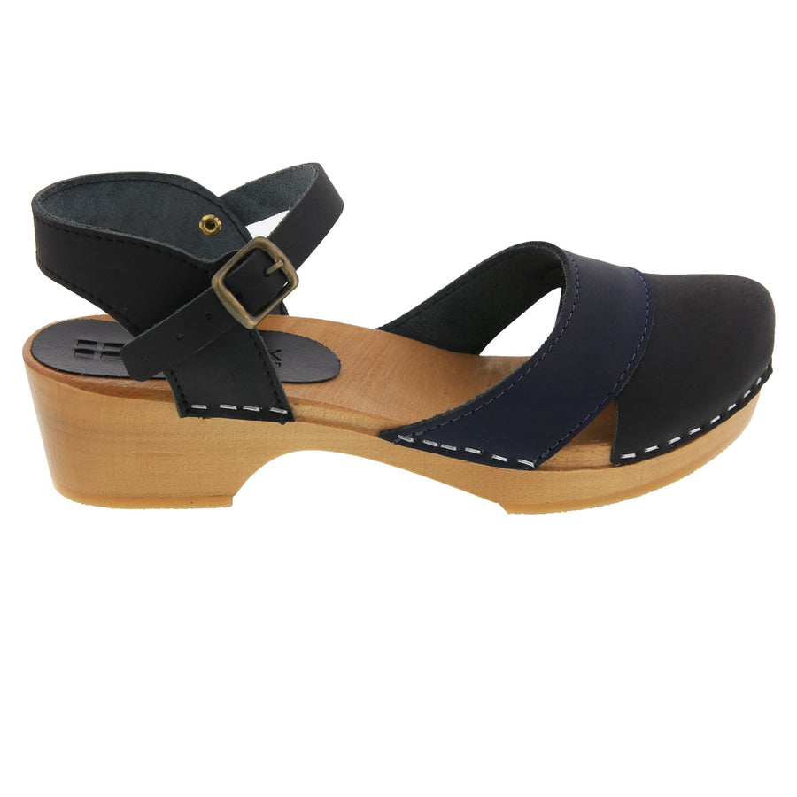 BJORK BJORK MILA Wooden Clog Sandals in Oiled Leather