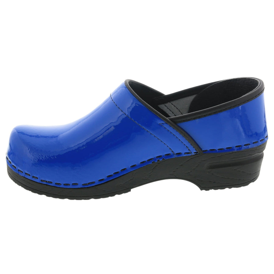 BJORK BJORK PRO ELSA Blue Patent Leather Clogs