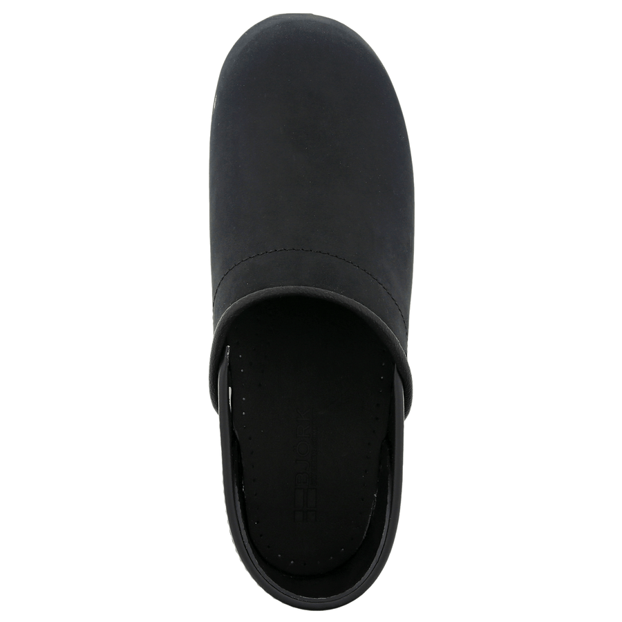 BJORK BJORK PRO LEAH Black Oiled Leather Clogs