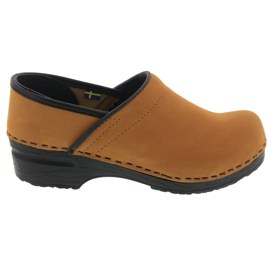 BJORK BJORK PRO LEAH Cognac Oiled Leather Clogs