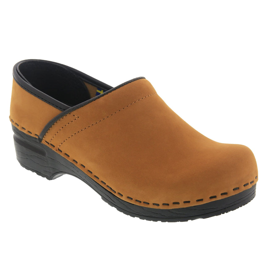BJORK 757206-5-36 BJORK PRO LEAH Cognac Oiled Leather Clogs Cognac / EU-36