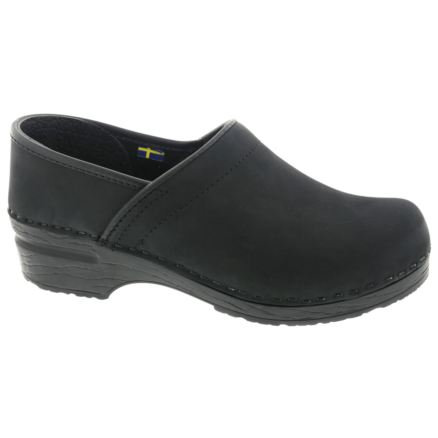 BJORK 757206-2-40 BJORK PRO LIAM Men's Black Oiled Leather Clogs Black / EU-40