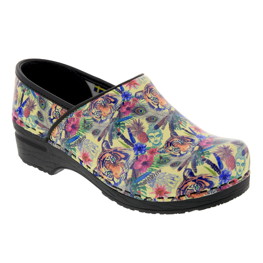 BJORK 757633-90-36 BJORK PROFESSIONAL Matahari Leather Clogs Multi / EU-36
