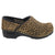 BJORK BJORK PROFESSIONAL Safari Collection Leather Clogs in Leopard