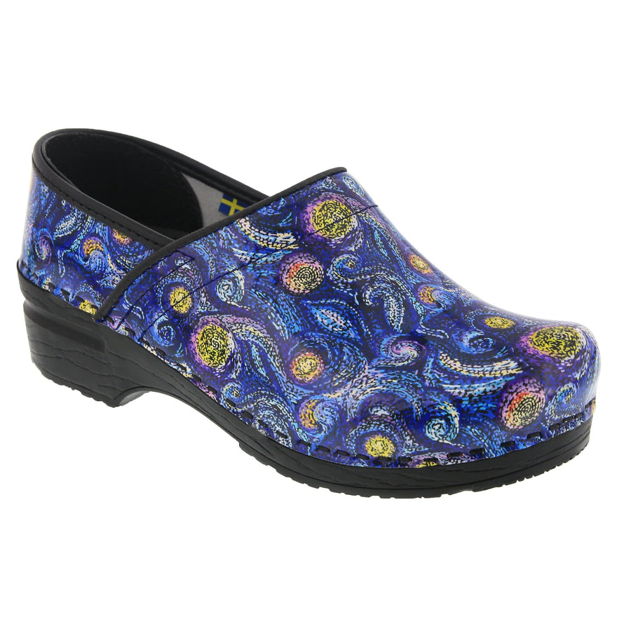 BJORK 757612-90-36 BJORK PROFESSIONAL Starry Leather Clogs Multi / EU-36