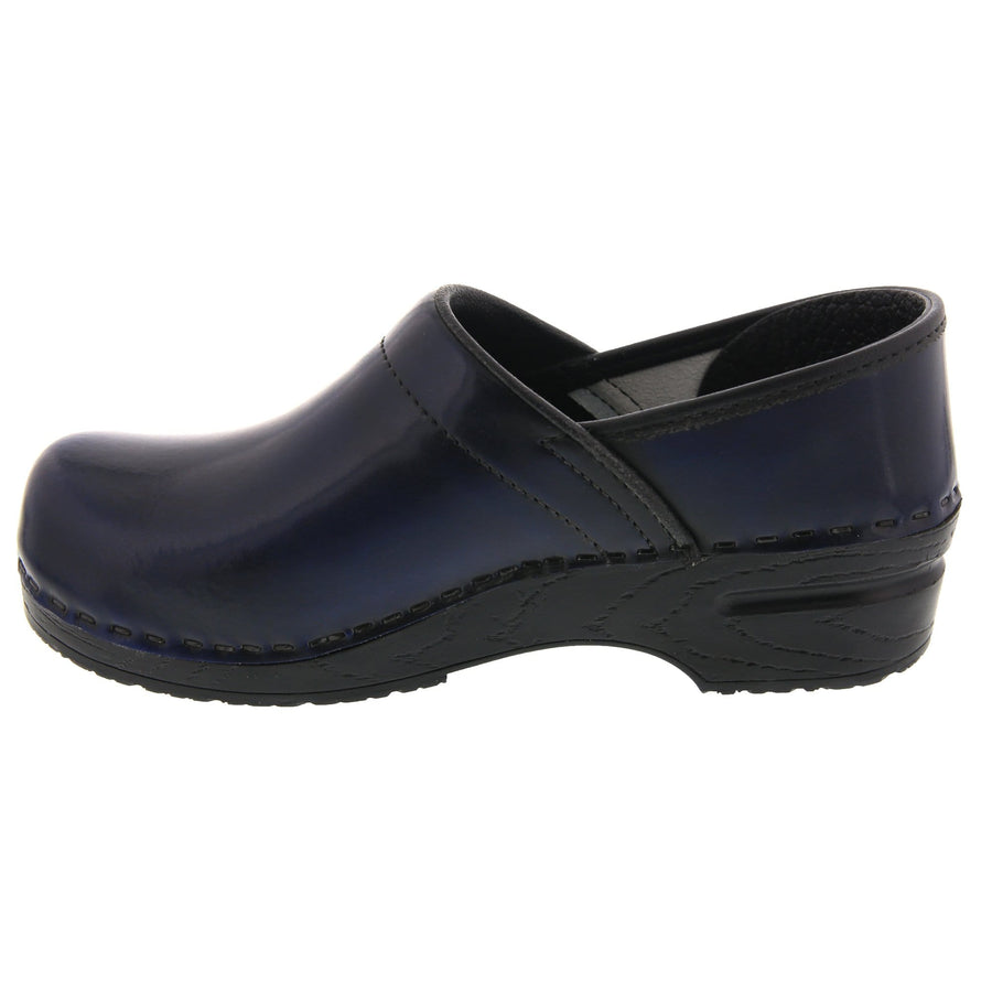 BJORK BJORK PROFESSIONAL Women's Navy Cabrio Leather Clogs