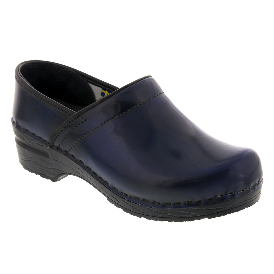 BJORK 757806-29-36 BJORK PROFESSIONAL Women's Navy Cabrio Leather Clogs Navy / EU-36