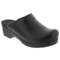 BJORK 715806-2-36 BJORK STELLA Open Back Cabrio Leather Clogs Black / EU-36