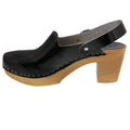 BJORK BJORK SVEA Wood Fashion Clog Sandals in Patent Leather