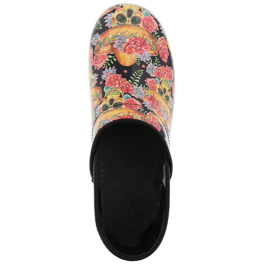 BJORK BJORK VERA Limited Edition Sugar Skull Leather Clogs
