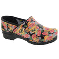 BJORK 757602-90-36 BJORK VERA Limited Edition Sugar Skull Leather Clogs Closed Back - Multi / EU-36